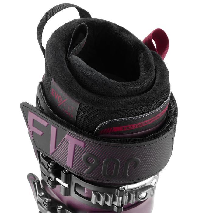 女款下坡滑雪靴EVOFIT 900 - 紫色