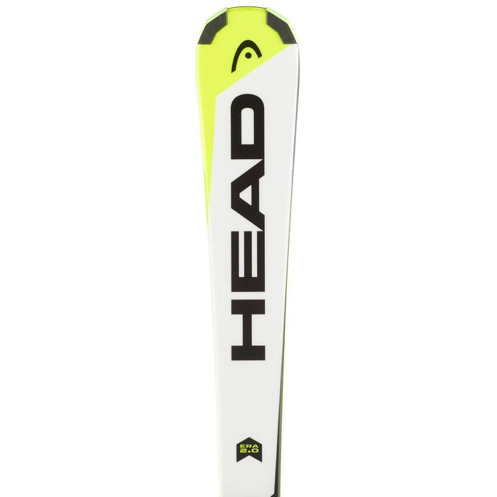 Ski enfant HEAD SUPERSHAPE SLR2 blancs/jaunes/noirs
