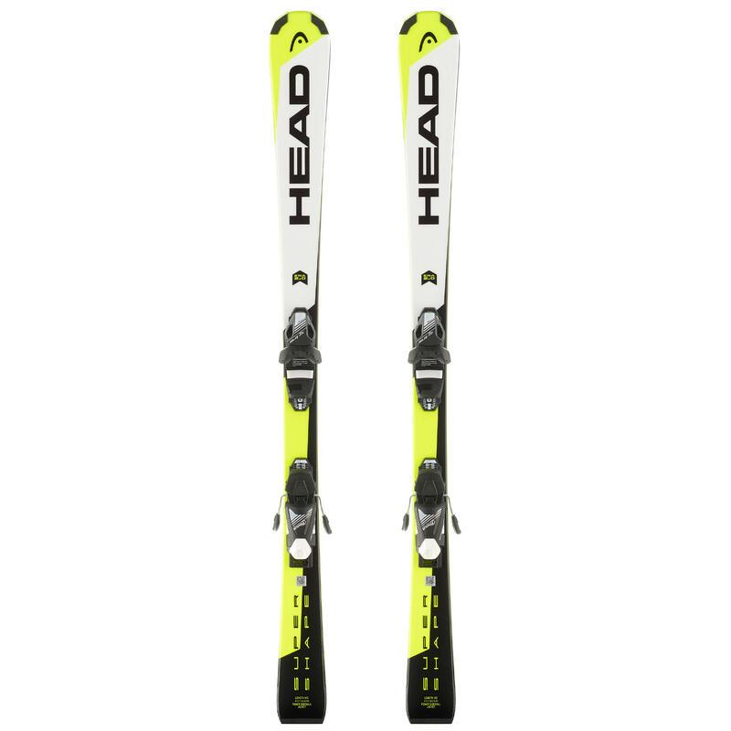 Ski enfant HEAD SUPERSHAPE SLR2 blancs/jaunes/noirs