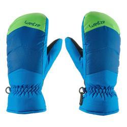 Skiwanten voor kinderen 100 blauw/groen