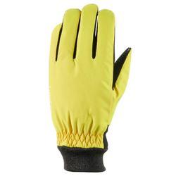 Skihandschoenen voor volwassenen Warm Fit geel