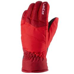 Skihandschoenen GL 100 voor kinderen rood.