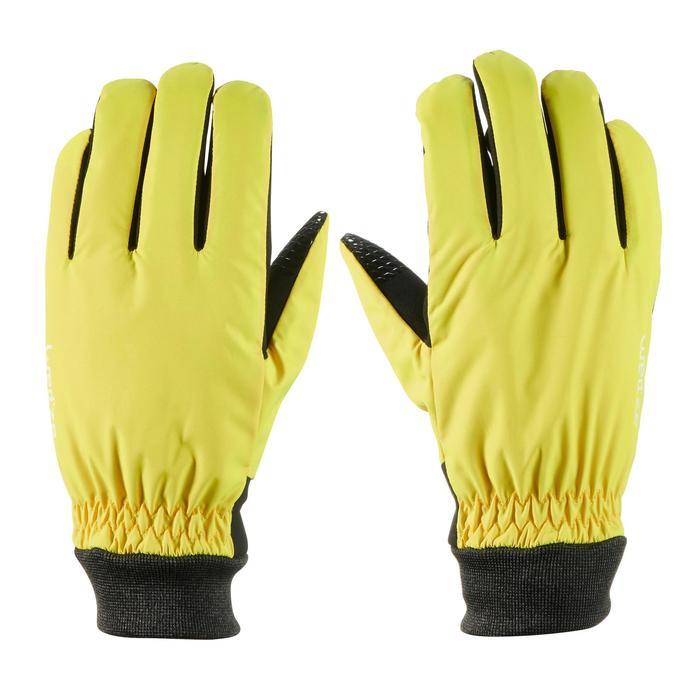 Pistehandschoenen voor volwassenen warm fit geel