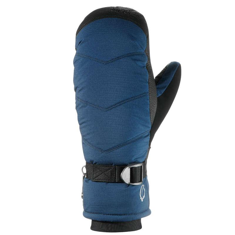 GUANTI SCI ADULTO Sci, Sport Invernali - Muffole 500 azzurre WEDZE - Abbigliamento sci donna