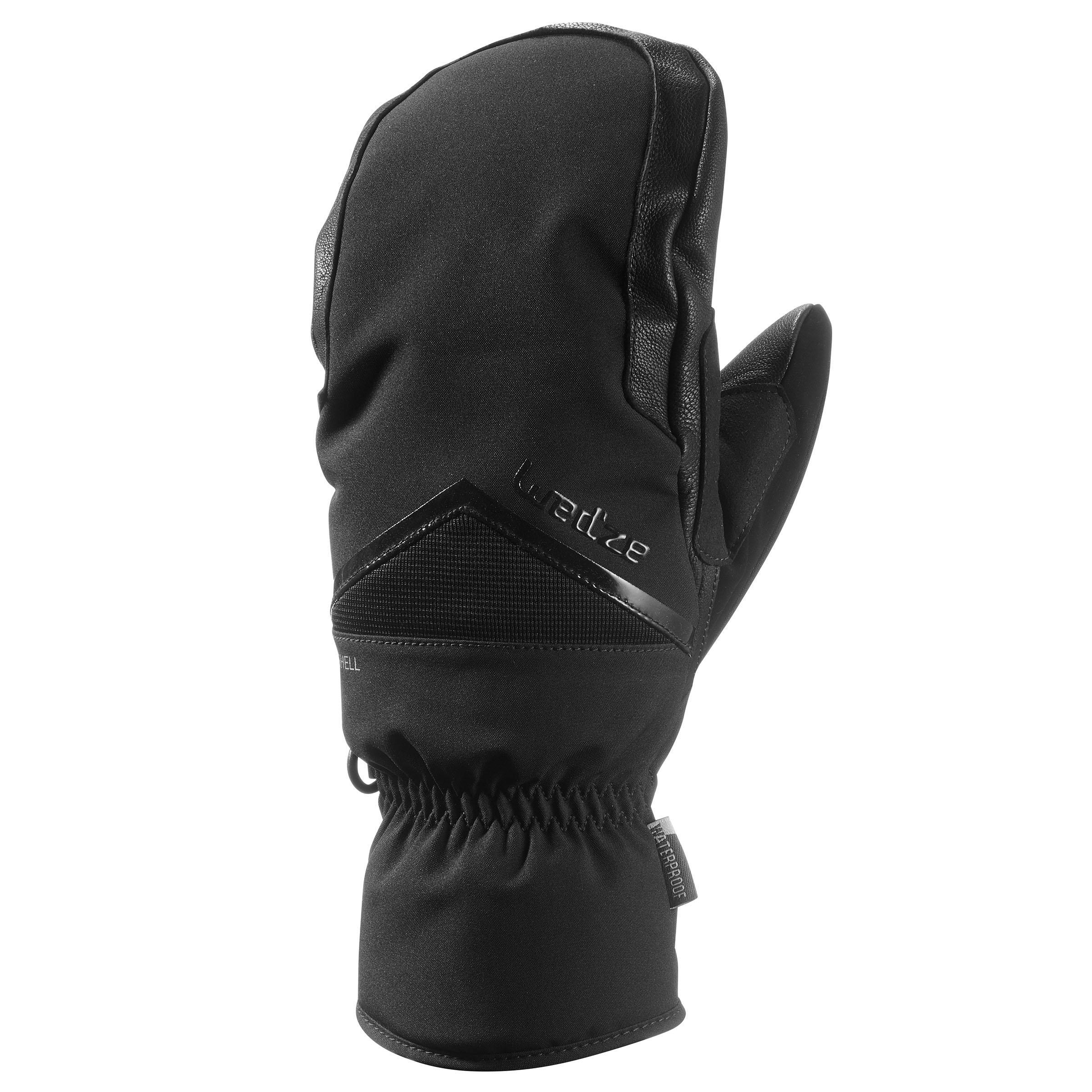 Fäustlinge Freeride MI 500 Erwachsene schwarz | Accessoires > Handschuhe | Wedze