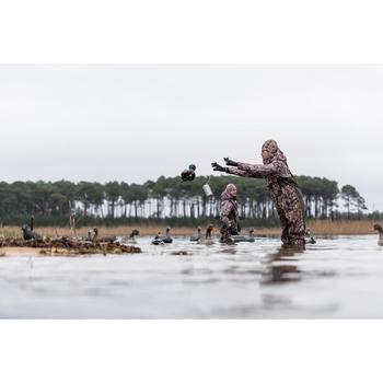 Gorro Caza Solognac Wf Duck 100 Calido Camuflaje Marismas