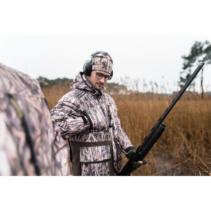 Chaqueta de caza cálida e impermeable 500 camuflaje marismas