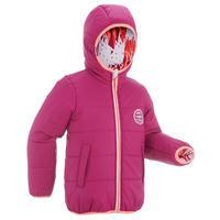 CHILDREN'S SKI JACKET WARM REVERSE 100 - PINK AND WHITE