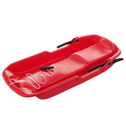 Trineo plataforma rojo adulto con frenos