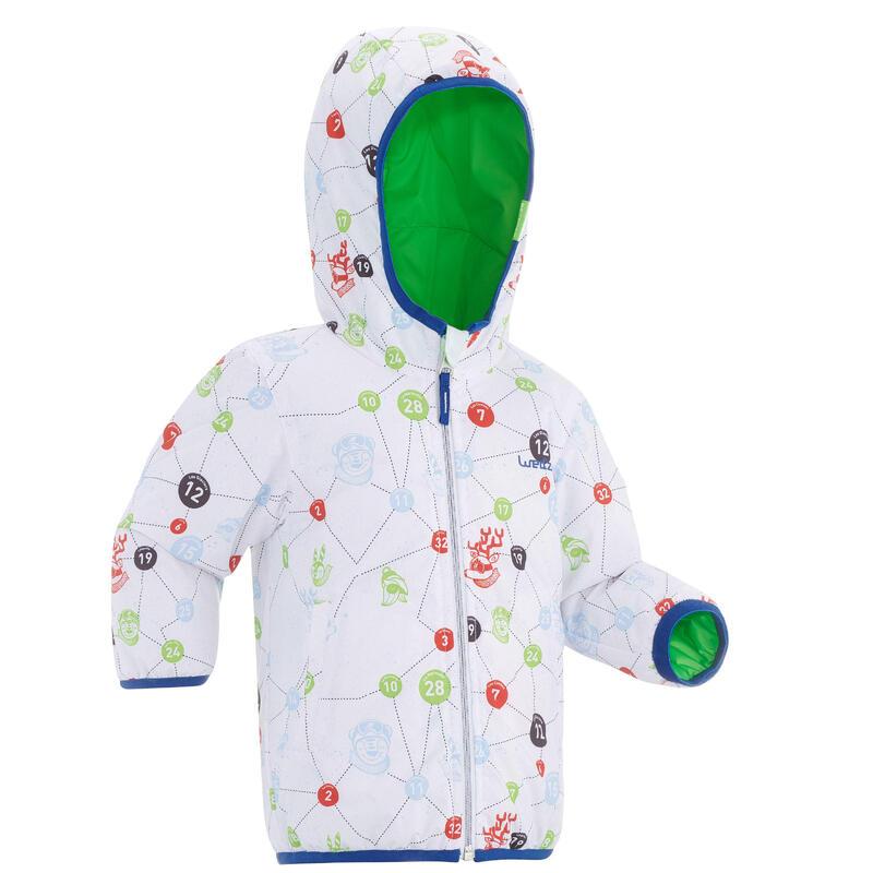 Casaco Quente e impermeável de ski / trenó bebé reversível verde