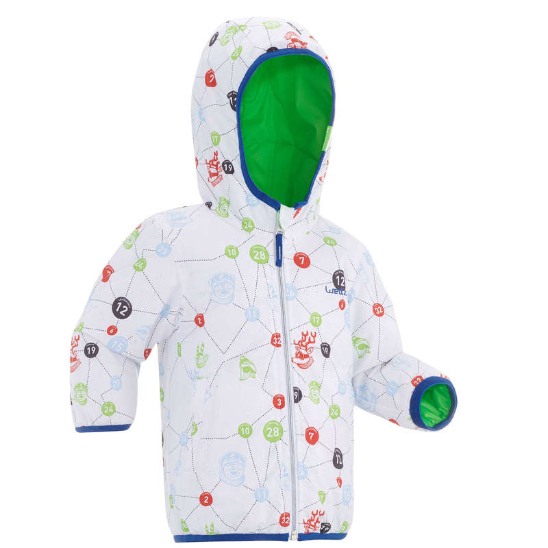 BABY SLEDGE EQUIPMENT Clothing - BB Sledging Jkt Warm RVS - Gre WEDZE - Coats and Jackets