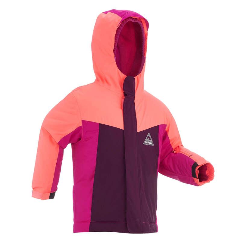 KID INTERMEDIATE ON PISTE SKIING CLOTHS Clothing - KIDS' D-SKI JKT PNF 500 - PINK WEDZE - Coats and Jackets