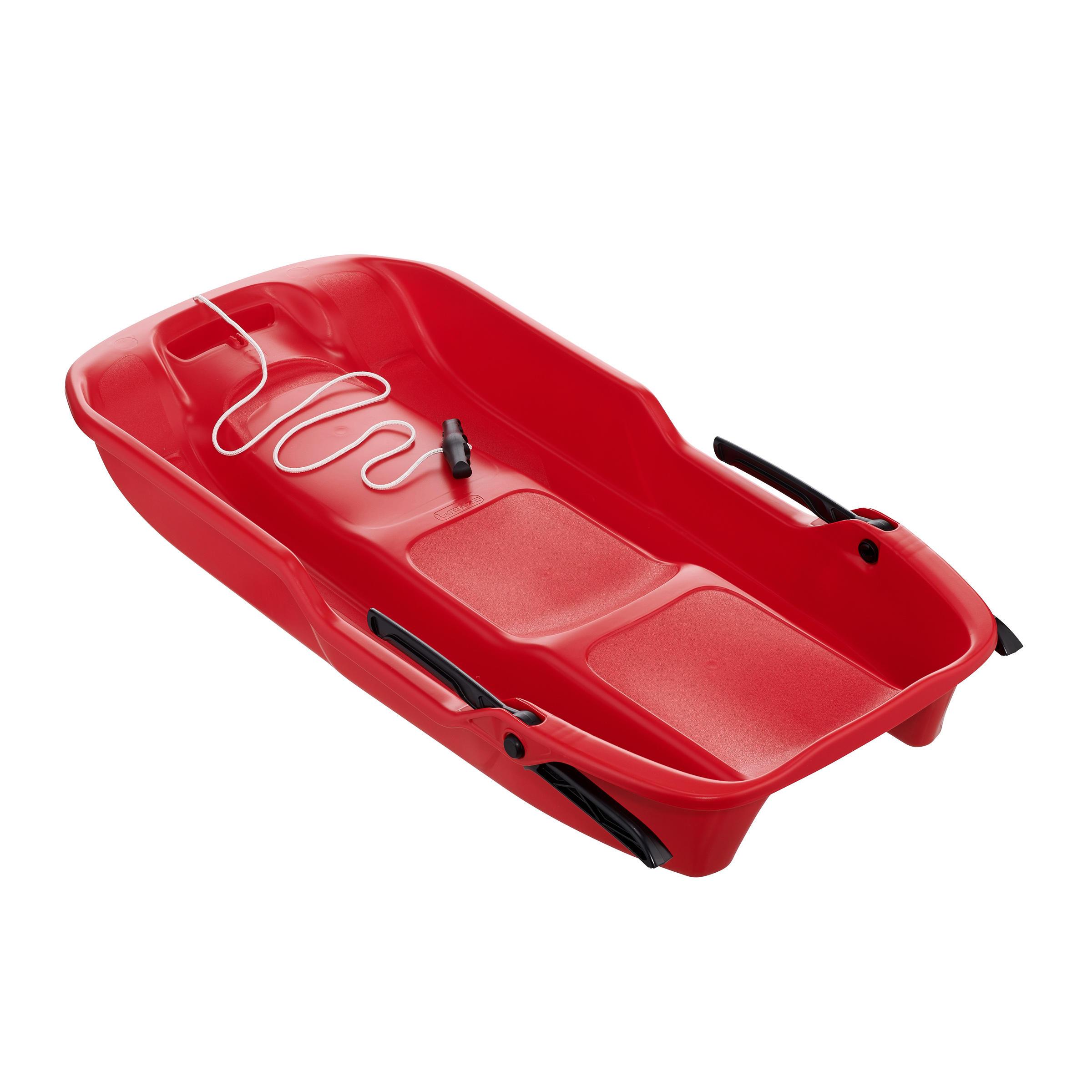Luge plateau adulte avec frein rouge