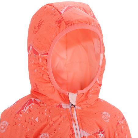 Baby Skiing/Sledging Reversible Jacket Warm - Coral