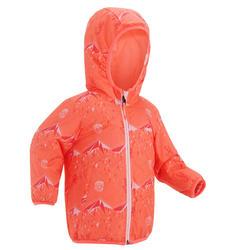 Warme ski-jas reverse roze peuter
