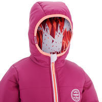 CHILDREN'S SKI JACKET WARM REVERSE 100 - PINK AND WHITE