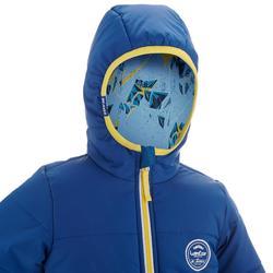 Skijacke Piste100 warm wendbar Kleinkinder blau