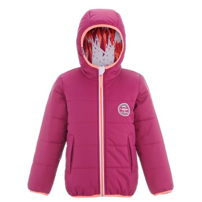 Skijacke Mid Warm Reverse 100 Kinder weiß/rosa