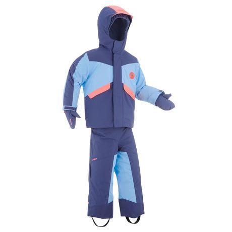 ensemble de ski enfant ski p combo 500 pnf bleu et corail wedze. Black Bedroom Furniture Sets. Home Design Ideas