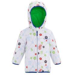 Jacke wendbar und warm Baby grün
