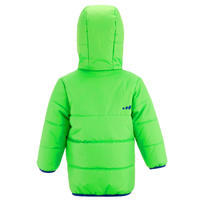 Manteau de ski / luge bébé chaud réversible vert