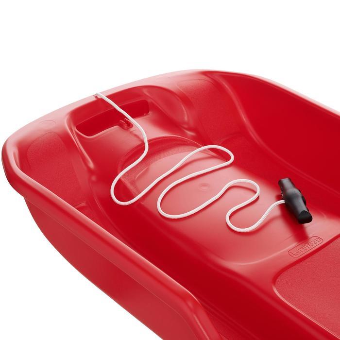 Luge plateau rouge adulte avec freins