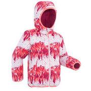 Rožnata obojestranska smučarska jakna 100 za otroke