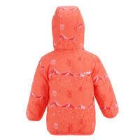 Manteau de ski / luge bébé chaud réversible corail
