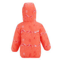 Baby Skiing/Sledging Reversible Jacket Warm - Coral