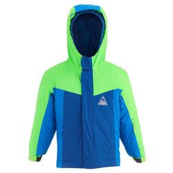 Skijacke Pull'n Fit 500 Kinder grün/blau