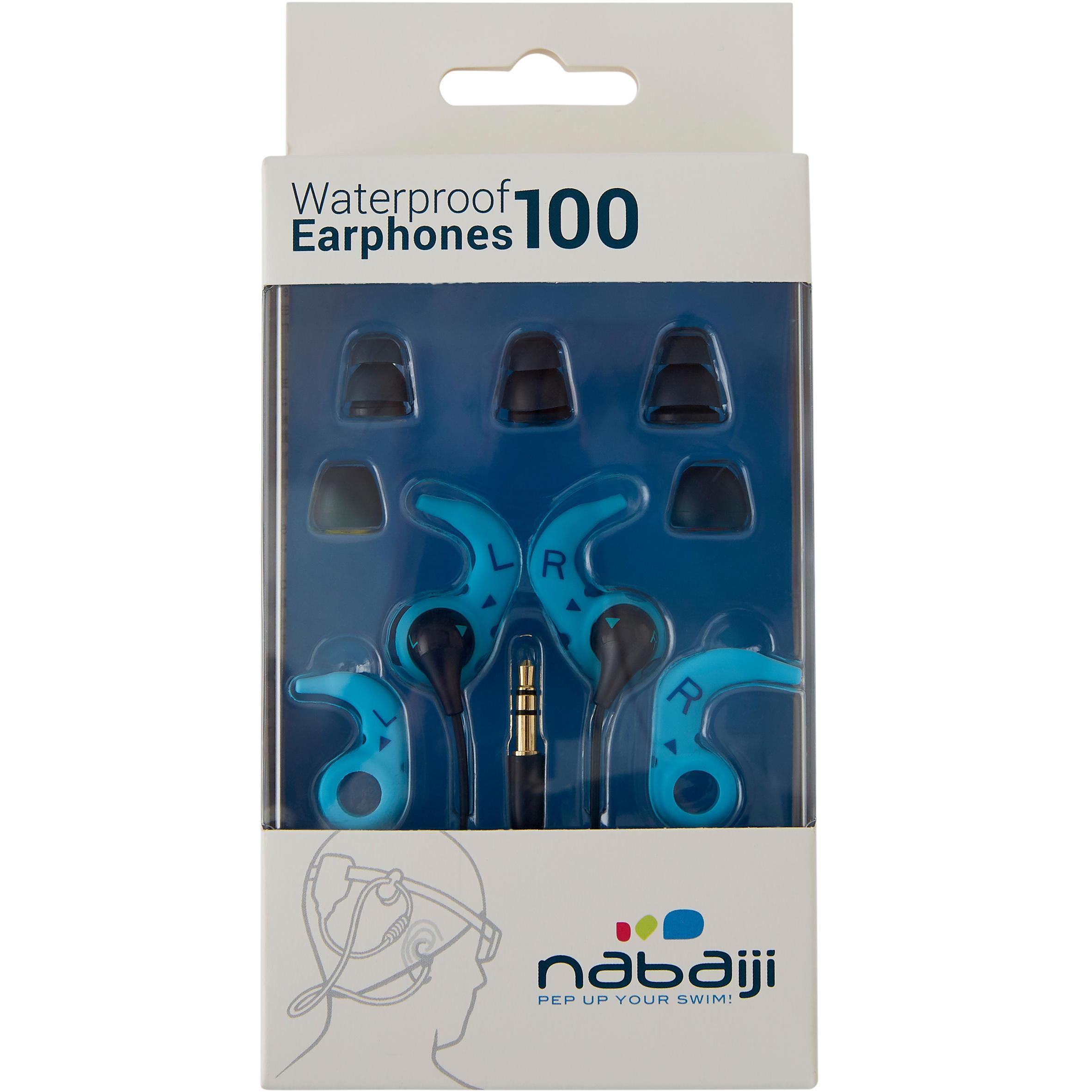 Kit auriculares MP3 estancos de natación azul