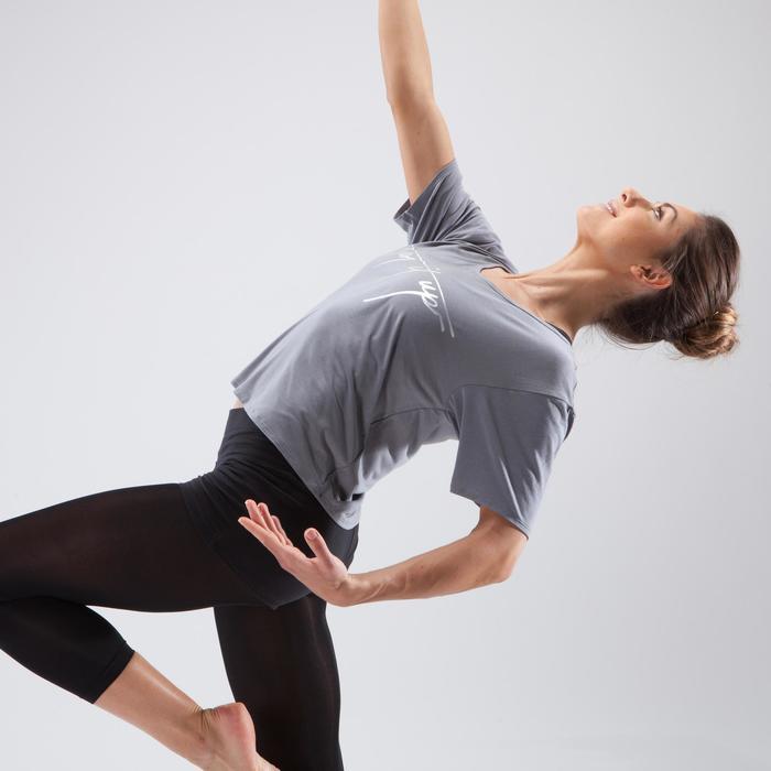 Kort dans T-shirt voor dames grijs