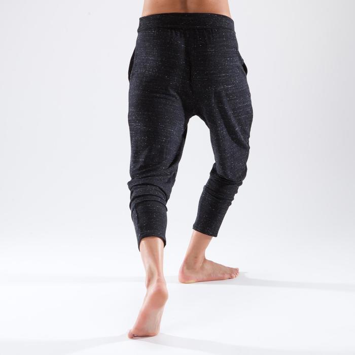 Pantalon carrot de danse moderne femme gris chiné