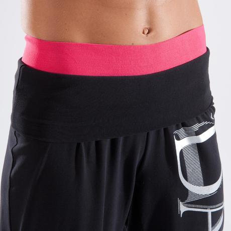 pantalon de danse taille et bas de jambe elastiques femme noir domyos by decathlon 8500040 1414179.jpg ed298f43525e