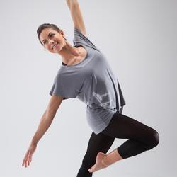 Women's Short-Sleeved Dance T-Shirt - Grey