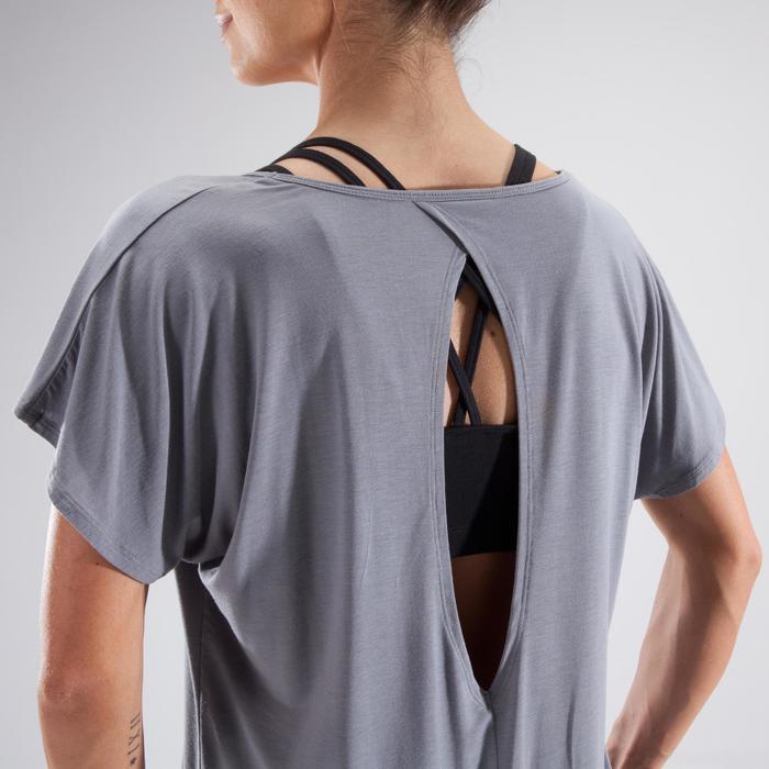 T-Shirt Tanzen Kurzarm Damen grau