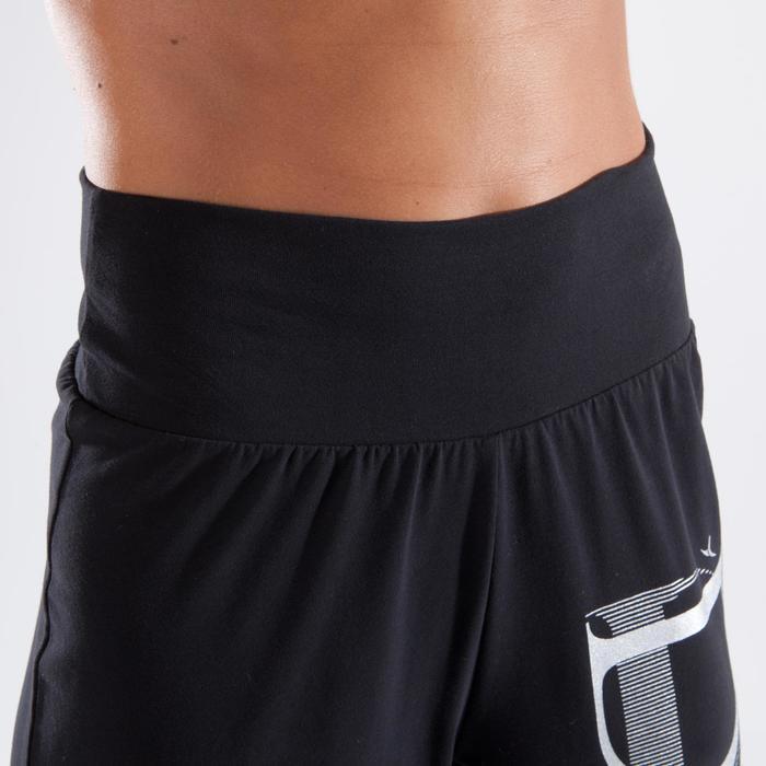 Dansbroek met elastische tailleband en elastieken onderaan, dames, zwart