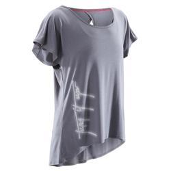 T-shirt manches courtes de danse femme gris