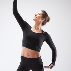 T-shirt manches longues de danse femme noir
