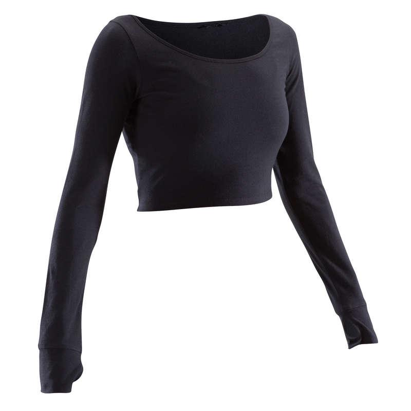 ÎMBRĂCĂMINTE DANSURI MODERNE, STREET DANCE FEMEI - Bluză Dans Negru Damă DOMYOS