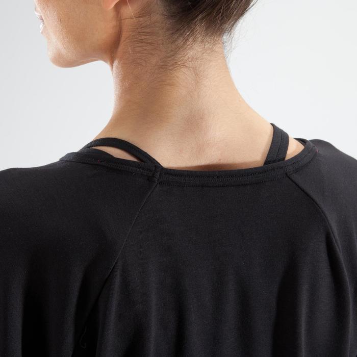 Camiseta de manga larga danza mujer negro