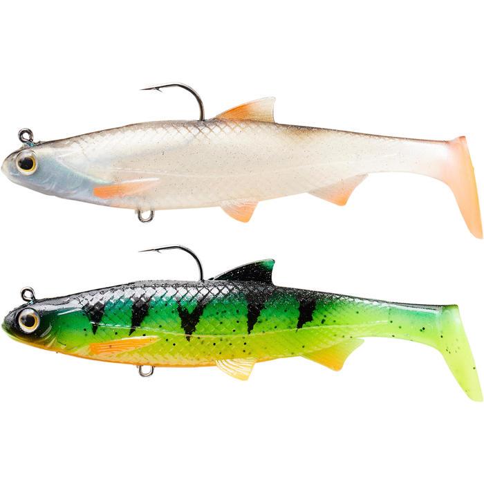 Softbait Shad vissen met kunstaas Set Roach RTC 120 Voorn / Firetiger