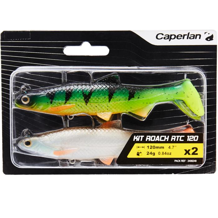 KIT SHAD ROACH READY TO CAST 120 MULTICOLOR PÊCHE DES CARNASSIERS - 1414581