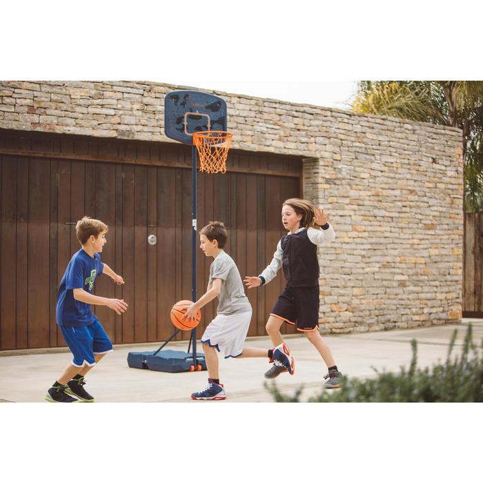 Panier de basket enfant B200 EASY bleu espace. 1,60m à 2,20m. Jusqu'à 10 ans. - 1414612