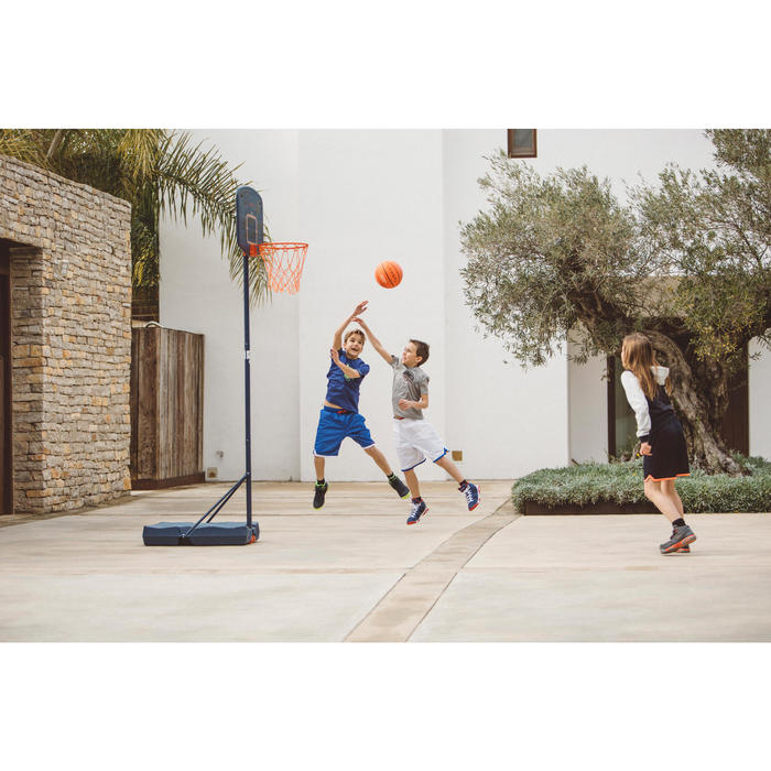 Panier de basket enfant B200 EASY bleu espace. 1,60m à 2,20m. Jusqu'à 10 ans. - 1414629