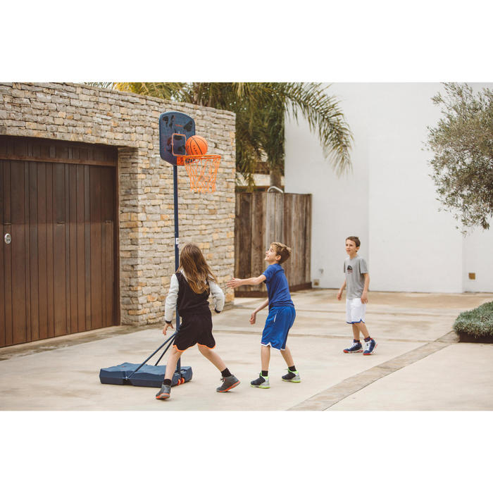 Panier de basket enfant B200 EASY bleu espace. 1,60m à 2,20m. Jusqu'à 10 ans. - 1414631