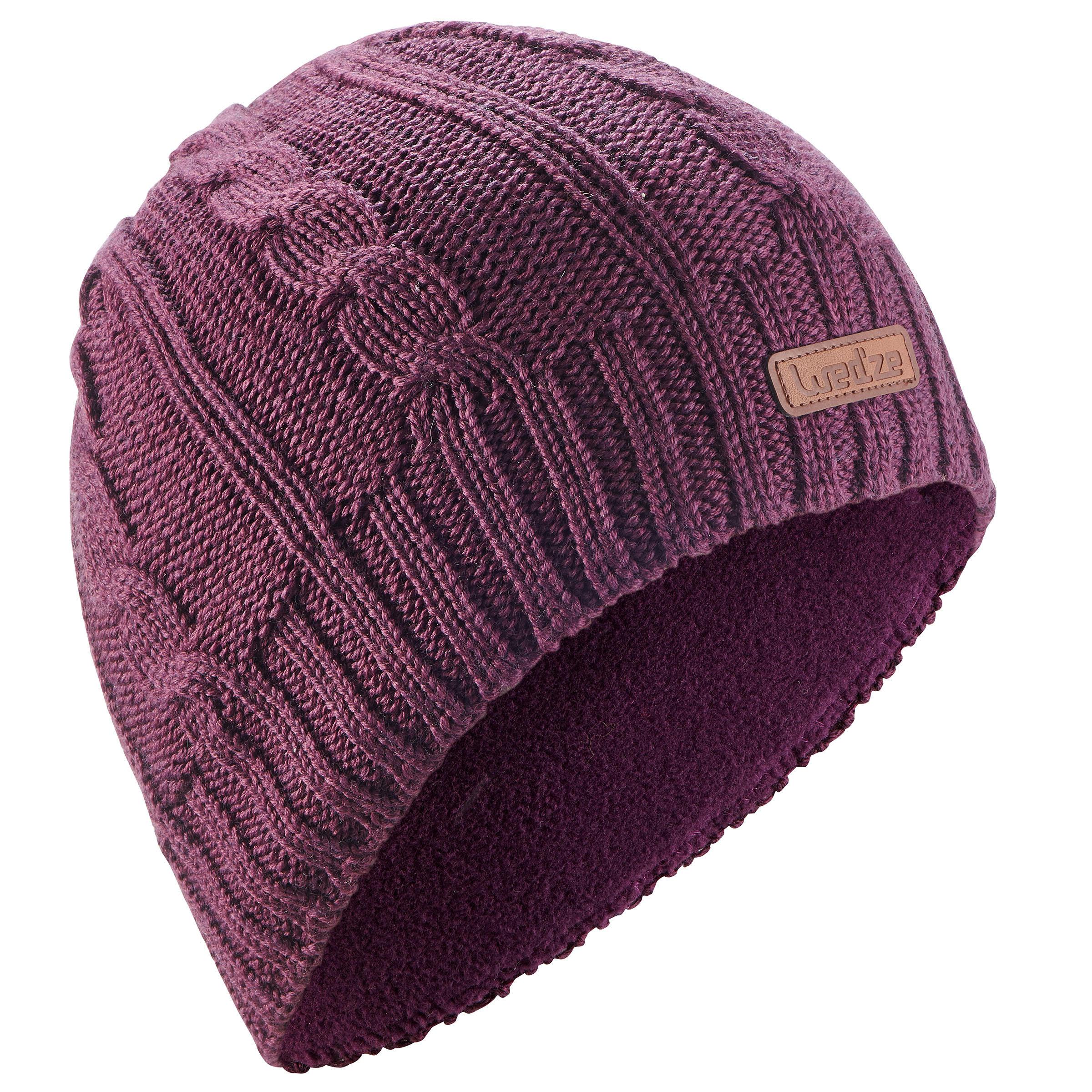 Skimütze Torsades Erwachsene violett | Accessoires > Mützen > Skimützen | Violett | Wed'ze