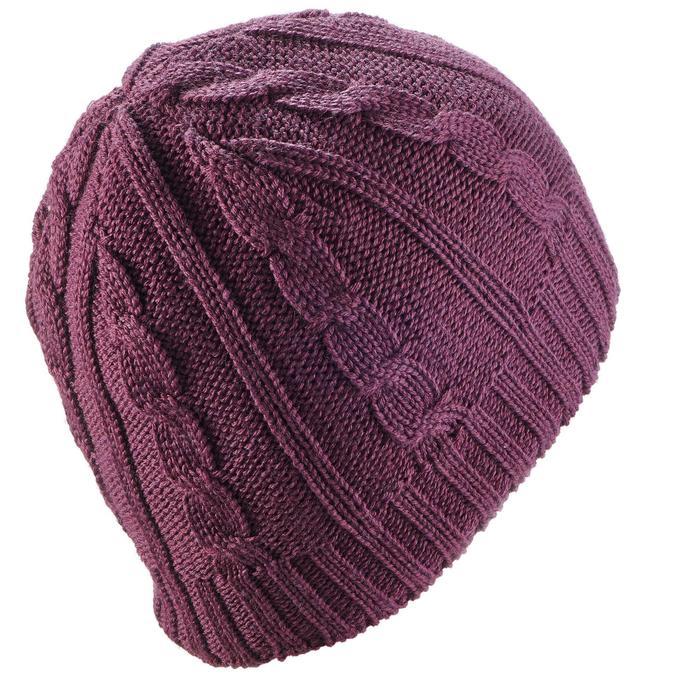 Skimütze Torsades Erwachsene violett