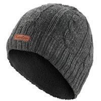 Adult Cable-Stitch Wool Ski Hat - Grey