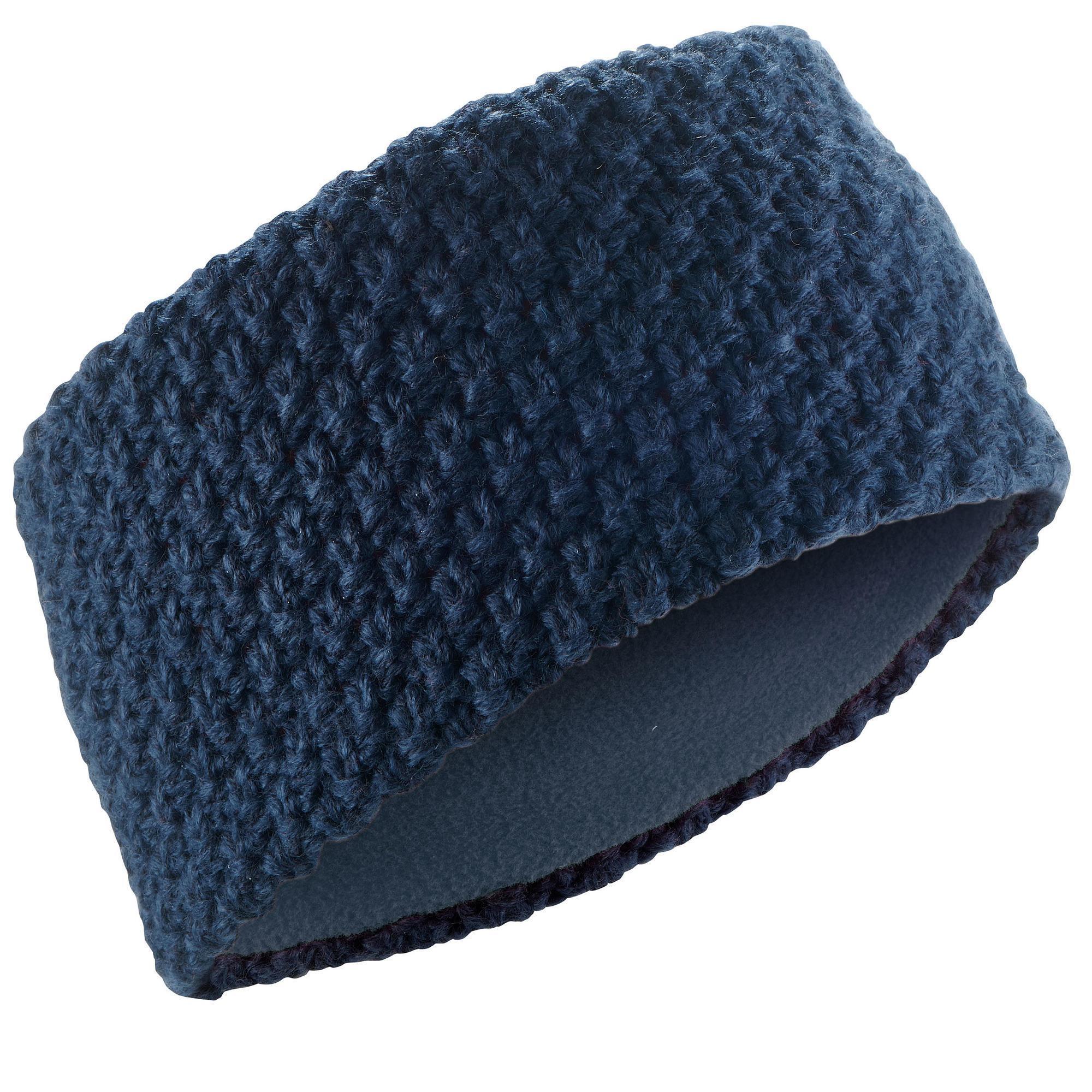 Wed'ze Ski hoofdband voor volwassenen Timeless marineblauw